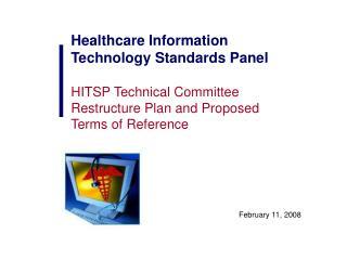 Healthcare Information Technology Standards Panel