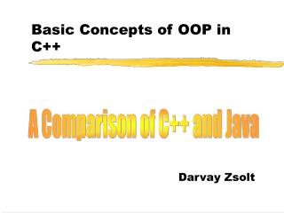 Basic Concepts of OOP in C++