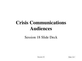 Crisis Communications Audiences