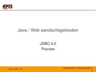 Java / Web aandachtgebieden