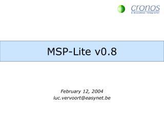 MSP-Lite v0.8