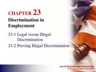CHAPTER  23 Discrimination in Employment