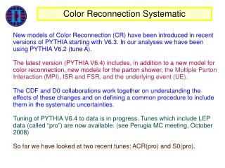 Color Reconnection Systematic
