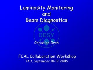 Luminosity Monitoring and Beam Diagnostics