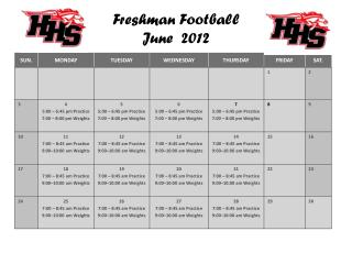 Freshman Football June  2012