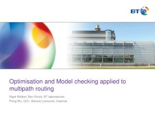 Optimisation and Model checking applied to multipath routing