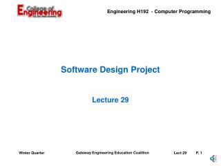 Software Design Project