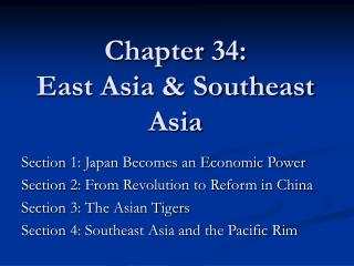 Chapter 34: East Asia & Southeast Asia