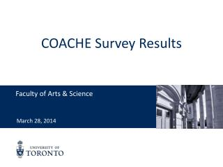 COACHE Survey Results