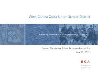 Downer Elementary School Restroom Renovation