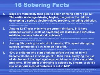 16 Sobering Facts