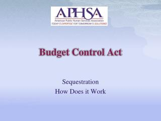 Budget Control Act