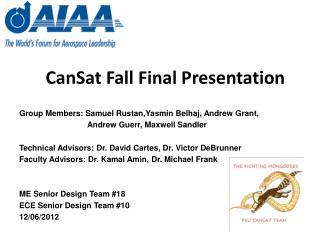CanSat  Fall Final Presentation