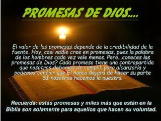 Promesas de Dios....