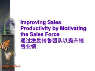Improving Sales Productivity by Motivating the Sales Force 通过激励销售团队以提升销售业绩