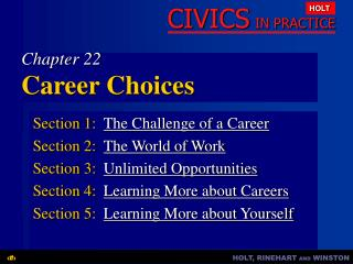 Chapter 22 Career Choices