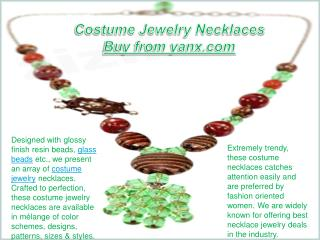 Costume Jewelry Necklaces