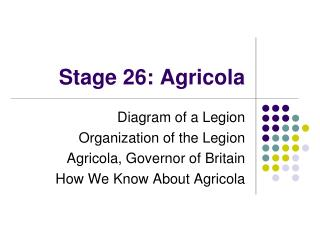 Stage 26: Agricola