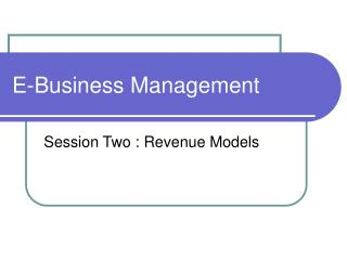 E-Business Management