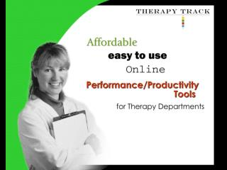 Therapy Track enables therapy departments and clinics to: