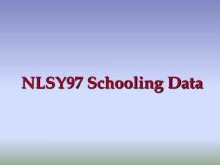 NLSY97 Schooling Data