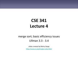 CSE 341 Lecture 4