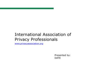 International Association of Privacy  Professionals privacyassociation