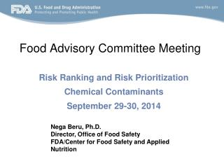 Food Advisory Committee Meeting