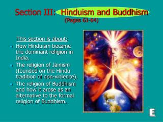 Section III:  Hinduism and Buddhism (Pages 61-64)