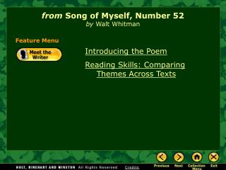 from  Song of Myself, Number 52 by  Walt Whitman
