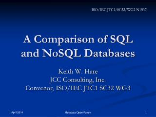 A Comparison of SQL and NoSQL Databases