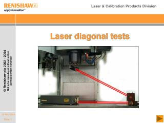 Laser diagonal tests