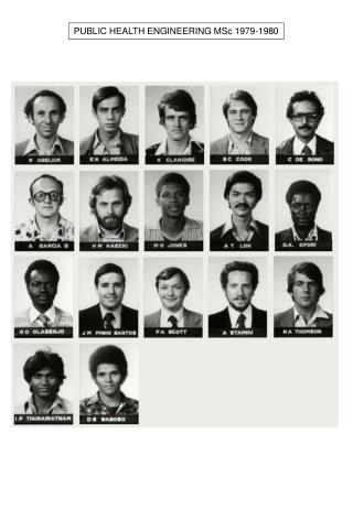 PUBLIC HEALTH ENGINEERING MSc 1979-1980