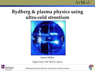 Rydberg & plasma physics using  ultra-cold strontium