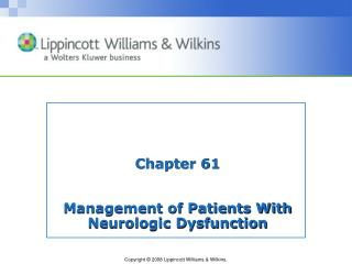 Chapter 61 Management of Patients With Neurologic Dysfunction