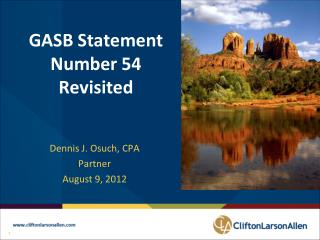 GASB Statement Number 54 Revisited