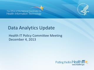 Data Analytics Update