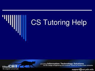 CS Tutoring Help