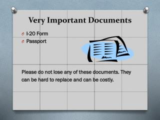 Very Important Documents