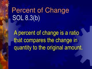 Percent of Change
