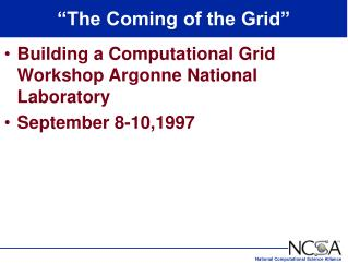 �The Coming of the Grid�