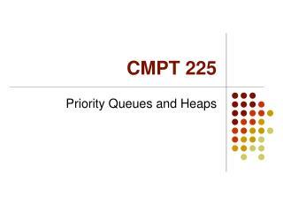CMPT 225