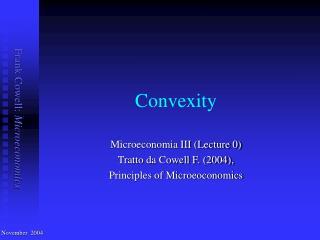 Convexity