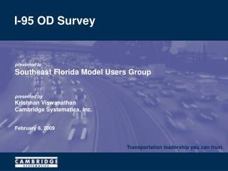 I-95 OD Survey