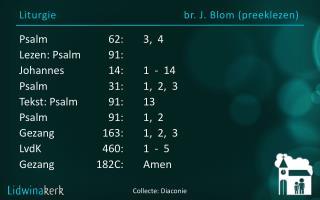 Liturgie br. J.  Blom  ( preeklezen )