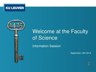 Welcome  at the  Faculty  of  Science