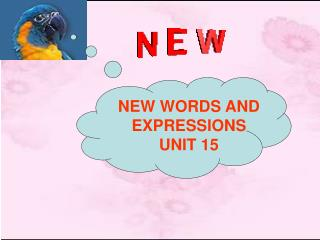 NEW WORDS AND EXPRESSIONS UNIT 15