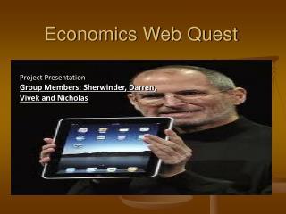 Economics Web Quest