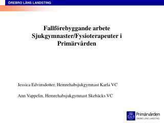 Fallförebyggande arbete Sjukgymnaster/Fysioterapeuter i Primärvården