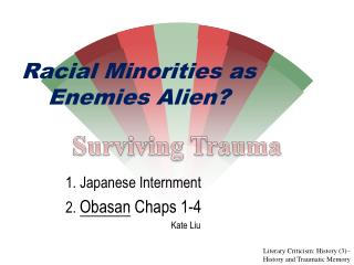 Racial Minorities as Enemies Alien?
